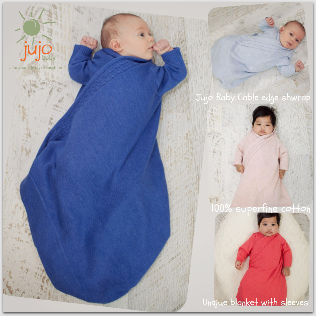 Jujo baby cable edge shwrap collage  1