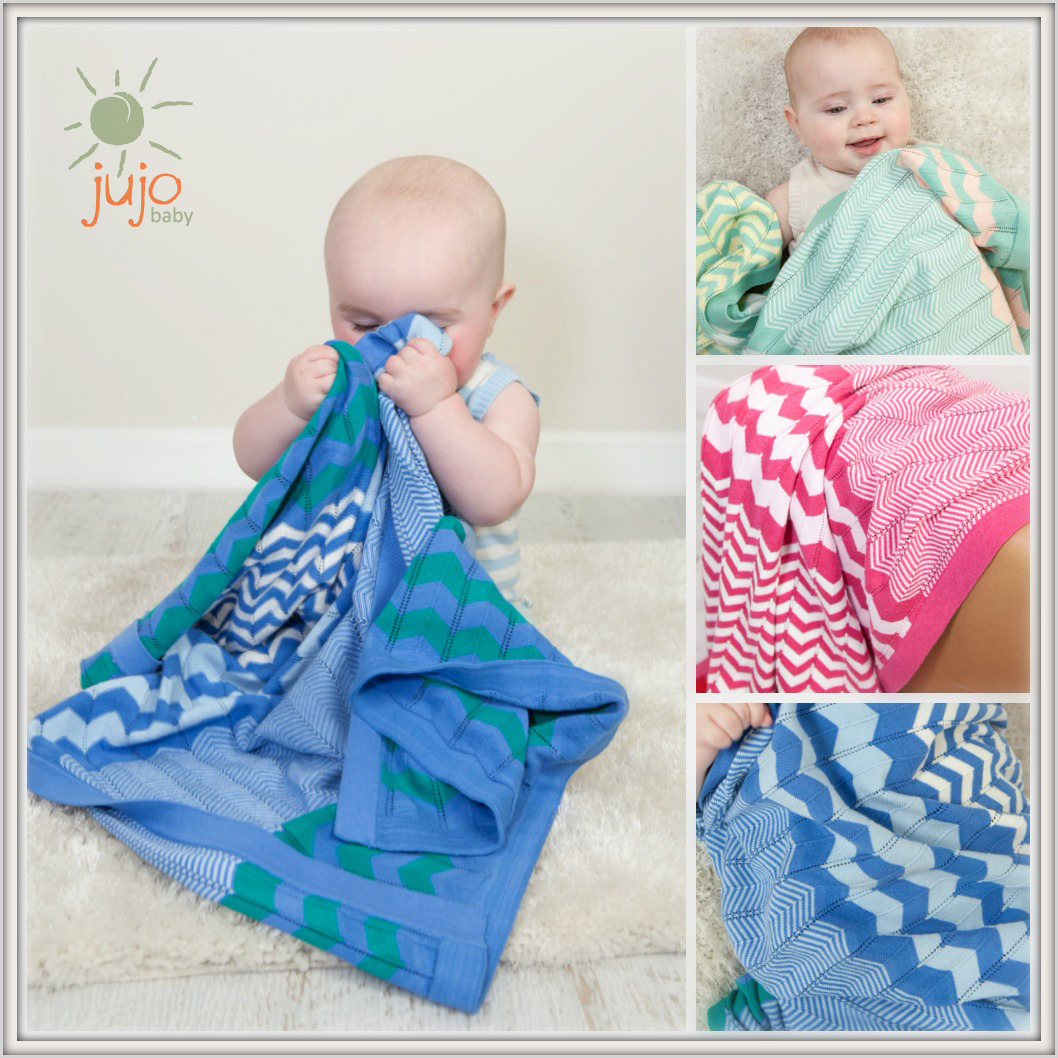 Jujo baby chevron blanket