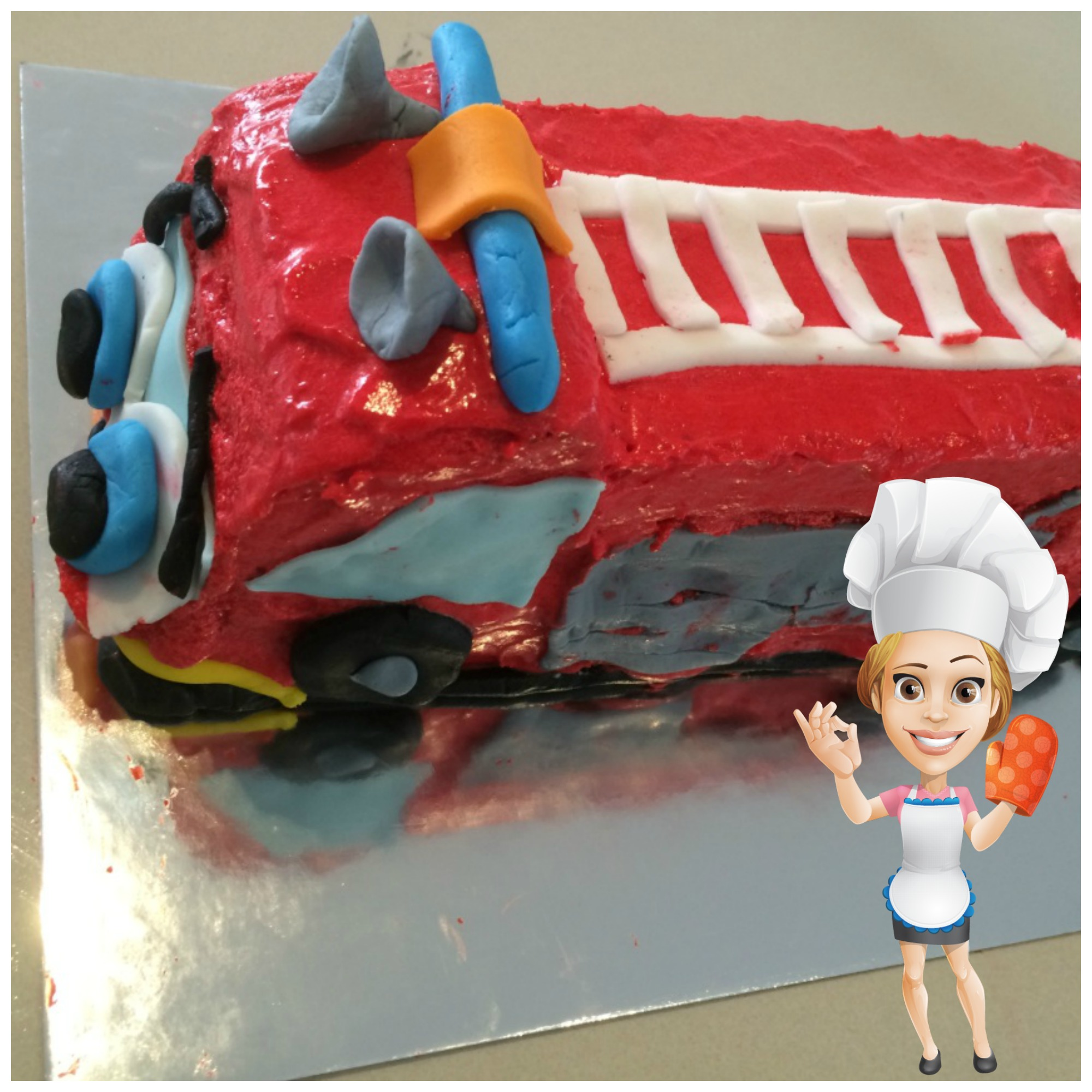 Lisa cake 2 the rescue fire truck
