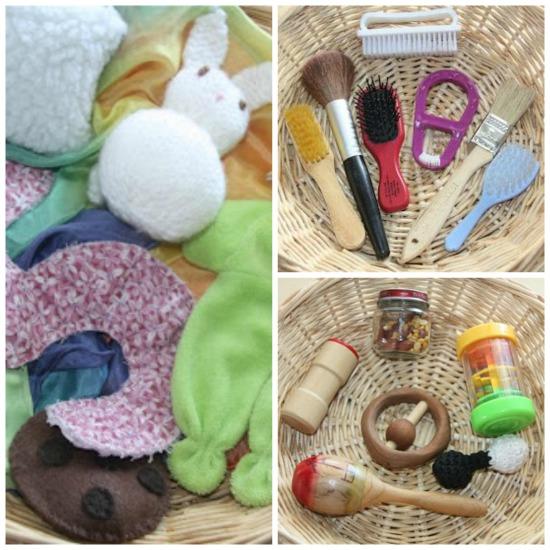 Ideas for Sensory Baskets for Babies