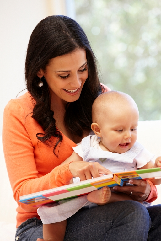 reading to baby