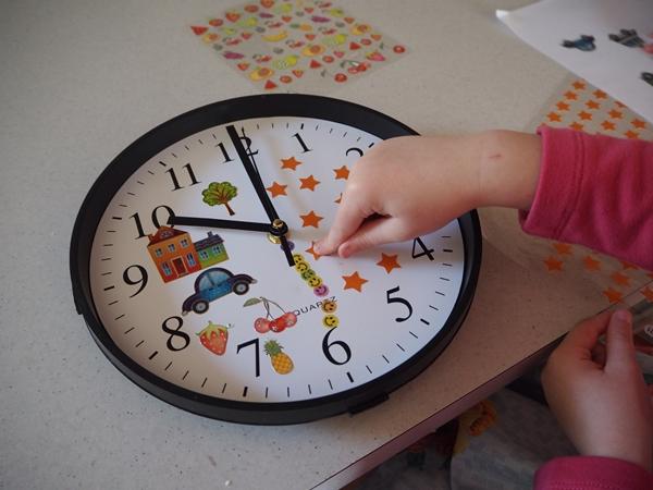 Adding stickers to clock