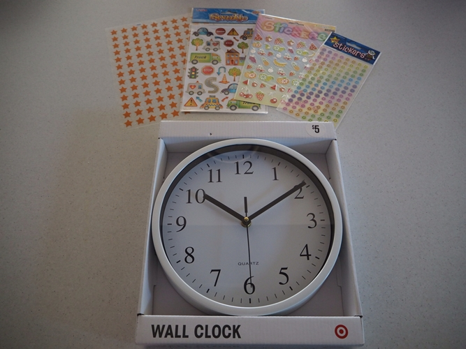 What you'll need: 1 clock and some stickers
