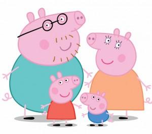 family peppa pig