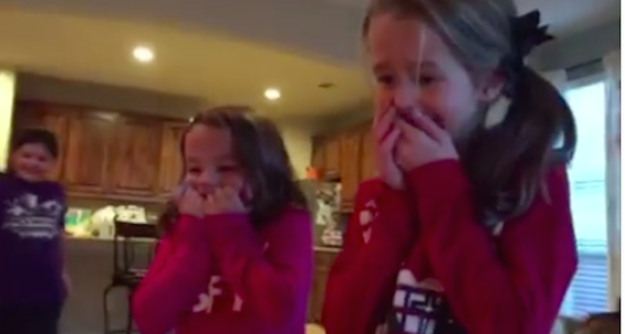 Sisters suprised with adopted Brother for Christmas