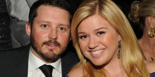 LAS VEGAS, NV - APRIL 07: Singer Kelly Clarkson (R) and Brandon Blackstock in the audience during the 48th Annual Academy of Country Music Awards at the MGM Grand Garden Arena on April 7, 2013 in Las Vegas, Nevada. (Photo by Kevin Winter/ACMA2013/Getty Images for ACM)