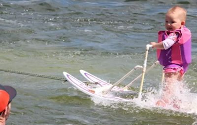 baby water skier