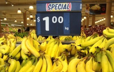 Banana prices drop
