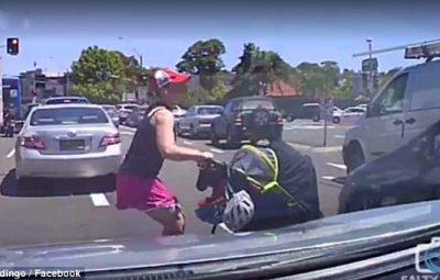 woman pram traffic
