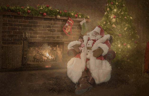 magical santa photo baby