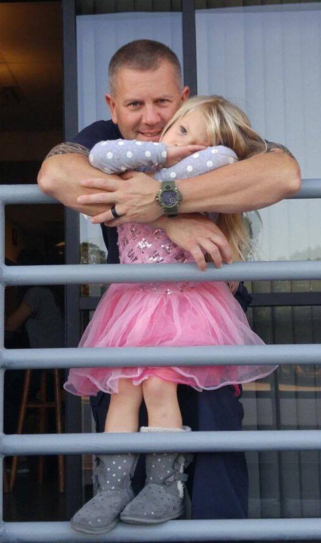 firefighter adopts baby girl