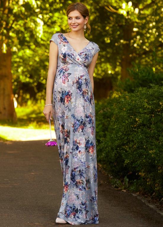 maxi materity dress