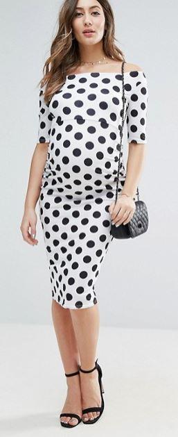 asos maternity dress spots