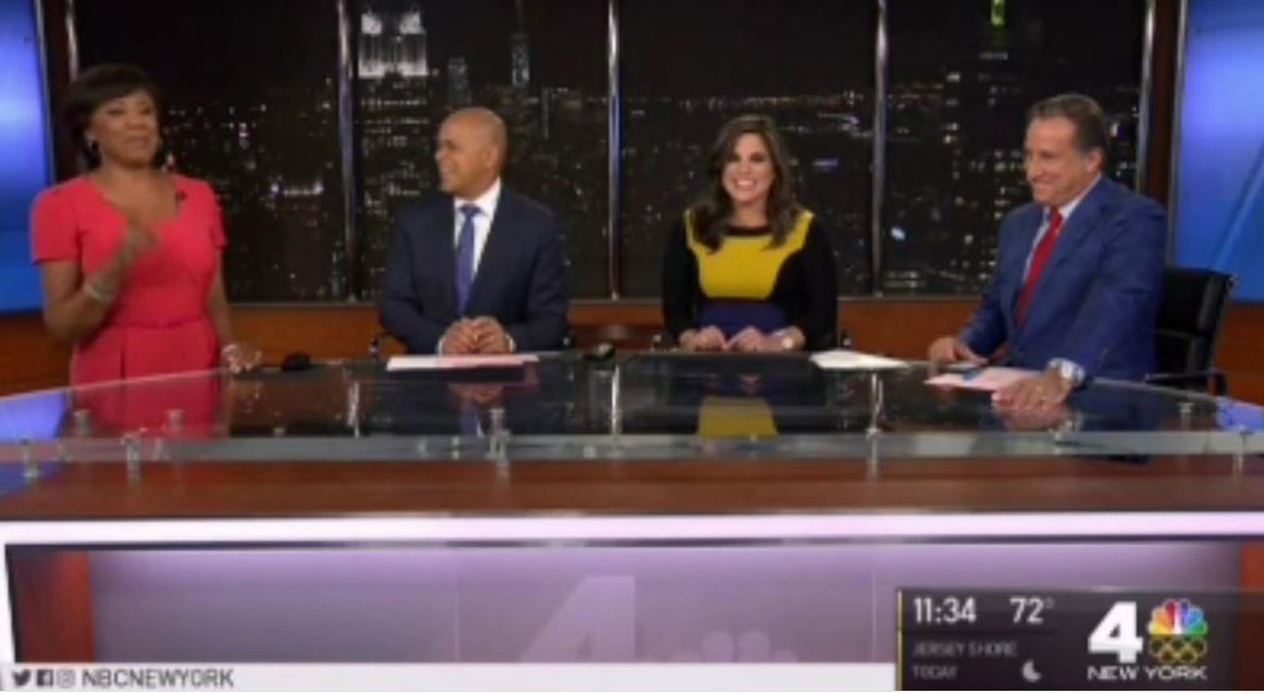 pregnant news anchor's water breaks