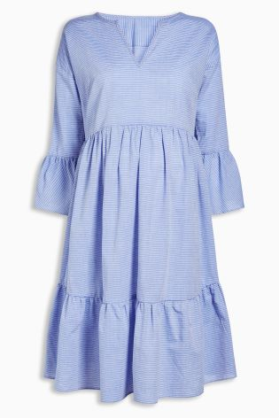 next blue and white stripe dress